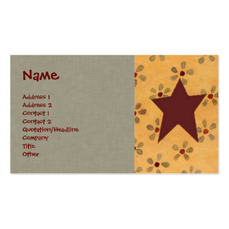 Tarjeta floral primitiva del perfil plantillas de tarjetas personales
