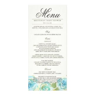 Tarjeta floral pródigo del estante del menú plantilla de lona