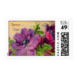Tarjeta floral púrpura adaptable - añada el texto