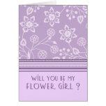 Tarjeta floral púrpura de la invitación del floris