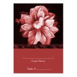 Tarjeta floral roja del asiento del boda de la flo plantillas de tarjetas de visita