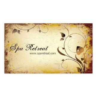 Tarjeta floral y frondosa del retratamiento del ba tarjeta de negocio