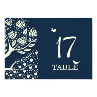 Tarjeta floreciente del número de la tabla del invitación 8,9 x 12,7 cm
