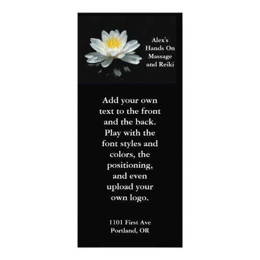 Tarjeta flotante del estante de la flor de Lotus Tarjetas Publicitarias