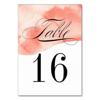 Tarjeta formal del número de la tabla del lavado