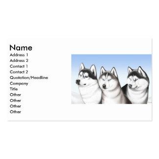 Tarjeta fornida del perfil de los perros tarjetas de visita