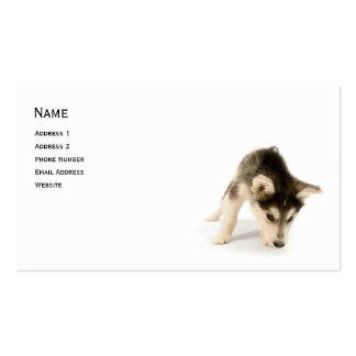 Tarjeta fornida del perfil del perrito tarjetas de visita