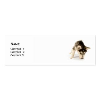 Tarjeta fornida del perfil del perrito tarjetas de visita mini