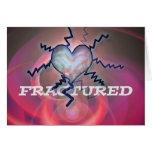 tarjeta fracturada del corazón