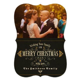 """Tarjeta francesa de las Felices Navidad de la foto Invitación 5"""" X 7"""""""