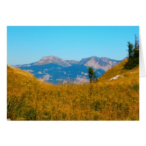 Tarjeta francesa de las montañas