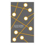 tarjeta frecuente anaranjada del comprador de la M Tarjetas De Negocios