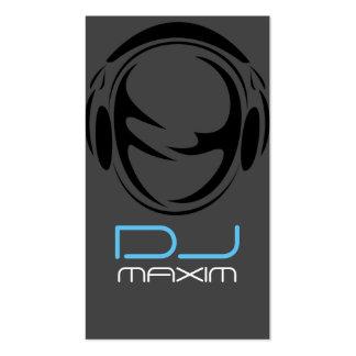 Tarjeta fresca de la industria musical de DJ Tarjetas De Visita