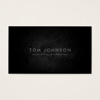Tarjeta fresca de piedra negra llana simple tarjetas de visita