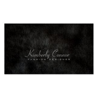 Tarjeta fresca del negro de la moda de la piel tarjetas de visita