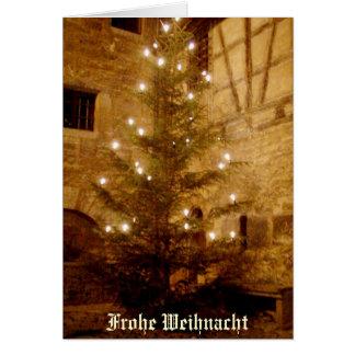 Tarjeta-Frohe alemana Weihnacht del navidad