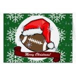 Tarjeta - fútbol decorativo de Santa