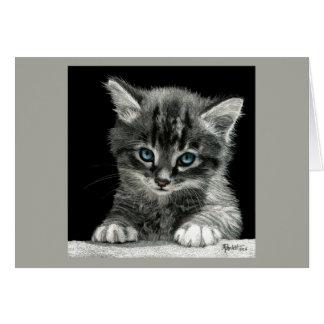 """Tarjeta """"futura"""" brillante del gatito"""
