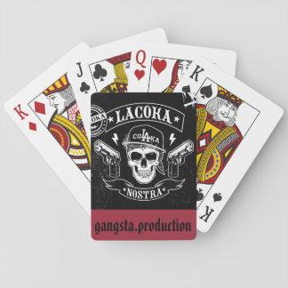 tarjeta gangsta baraja de cartas