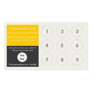 Tarjeta gastrónoma del sello de la tarjeta de visi tarjetas de visita