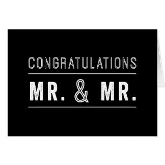 Tarjeta gay de la enhorabuena del boda de los