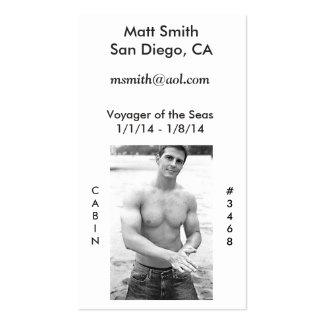 Tarjeta gay de la travesía (con la parte tarjetas de visita