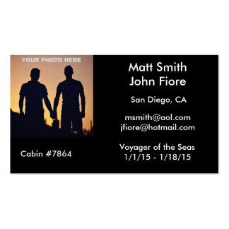 Tarjeta gay de la travesía tarjetas de visita