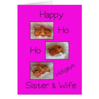 tarjeta gay de Navidad ho ho de los holigays felic