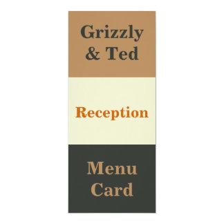 Tarjeta gay simplificada del menú de la recepción invitación 10,1 x 23,5 cm