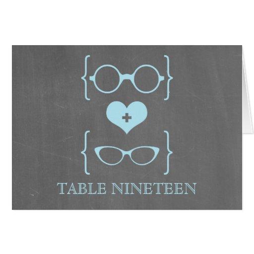 Tarjeta Geeky azul del número de la tabla de la pi