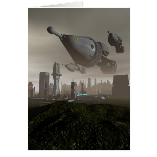 Tarjeta gigante de la llegada 2 de la nave espacia