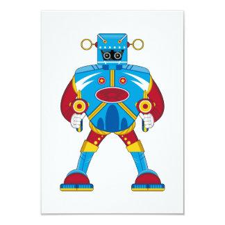 "Tarjeta gigante de RSVP del robot de Mecha Invitación 3.5"" X 5"""