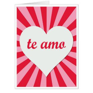 Tarjeta gigante del el día de San Valentín de Te