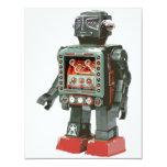 Tarjeta gigante del robot invitación 10,8 x 13,9 cm
