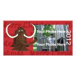 Tarjeta gigantesca de la foto del navidad tarjeta fotografica