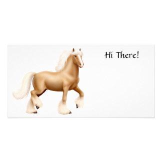 Tarjeta gitana de la foto del caballo de proyecto tarjeta fotografica