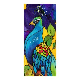 Tarjeta gloriosa de la invitación del arte del pav tarjeta publicitaria a todo color