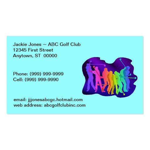 Tarjeta Golfing de las tarjetas de visita del