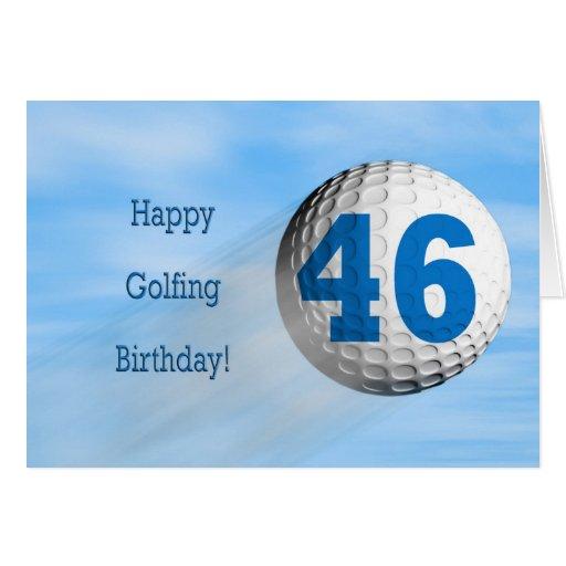 tarjeta golfing del 46.o cumpleaños