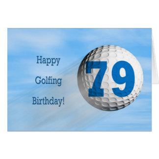 tarjeta golfing del 79.o cumpleaños
