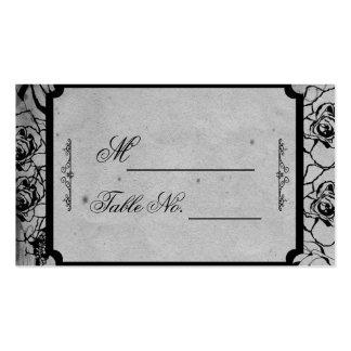 Tarjeta gótica color de rosa negra del lugar del tarjetas de visita