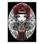 Tarjeta gótica de Fae del Victorian de Annie