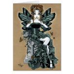 Tarjeta gótica de la hada de la mariposa de las co