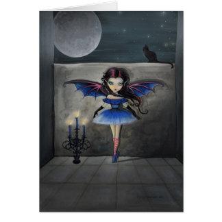 Tarjeta gótica de la hada del vampiro del pequeño