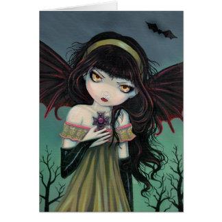 Tarjeta gótica de la hada del vampiro que vaga