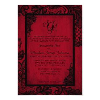 Tarjeta gótica de la invitación del boda del