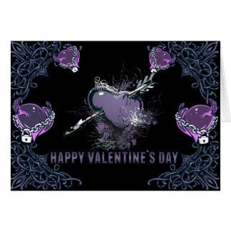 Tarjeta gótica de la tarjeta del día de San Valent