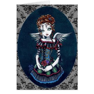 Tarjeta gótica del arte del ángel del Victorian de