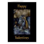 Tarjeta gótica del día de San Valentín del vintage
