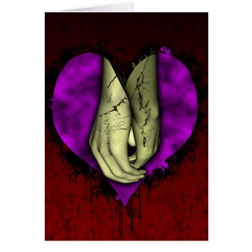 Tarjeta gótica del el día de San Valentín del amor